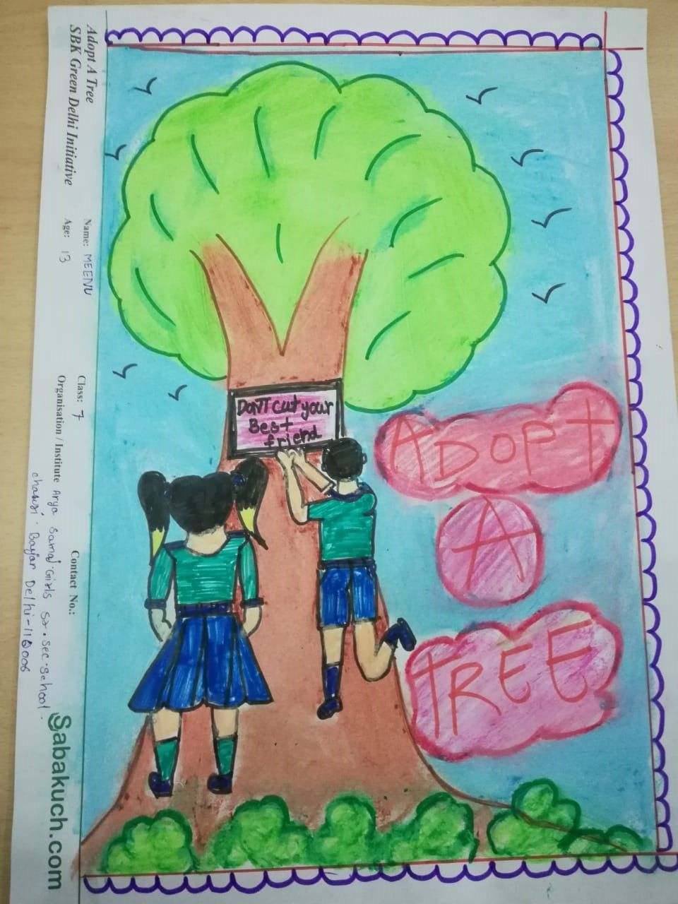 Pin on Sabakuch Adopt A Tree - Drawing Competition