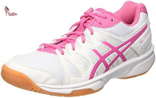Asics Upcourt, Chaussures de Volleyball Femme, Blanc (White/Azalea Pink/White), 38 EU