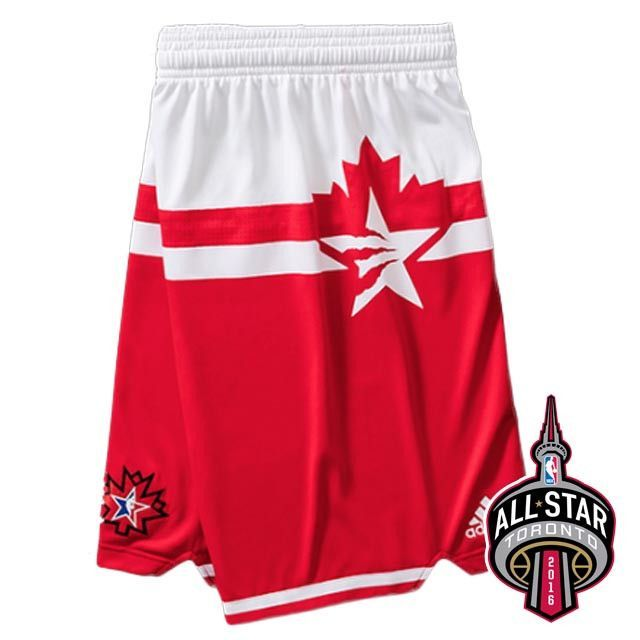 ... Jersey 2016 Toronto NBA All-Star Western Conference White Red Shorts ... 34d8c0f4a