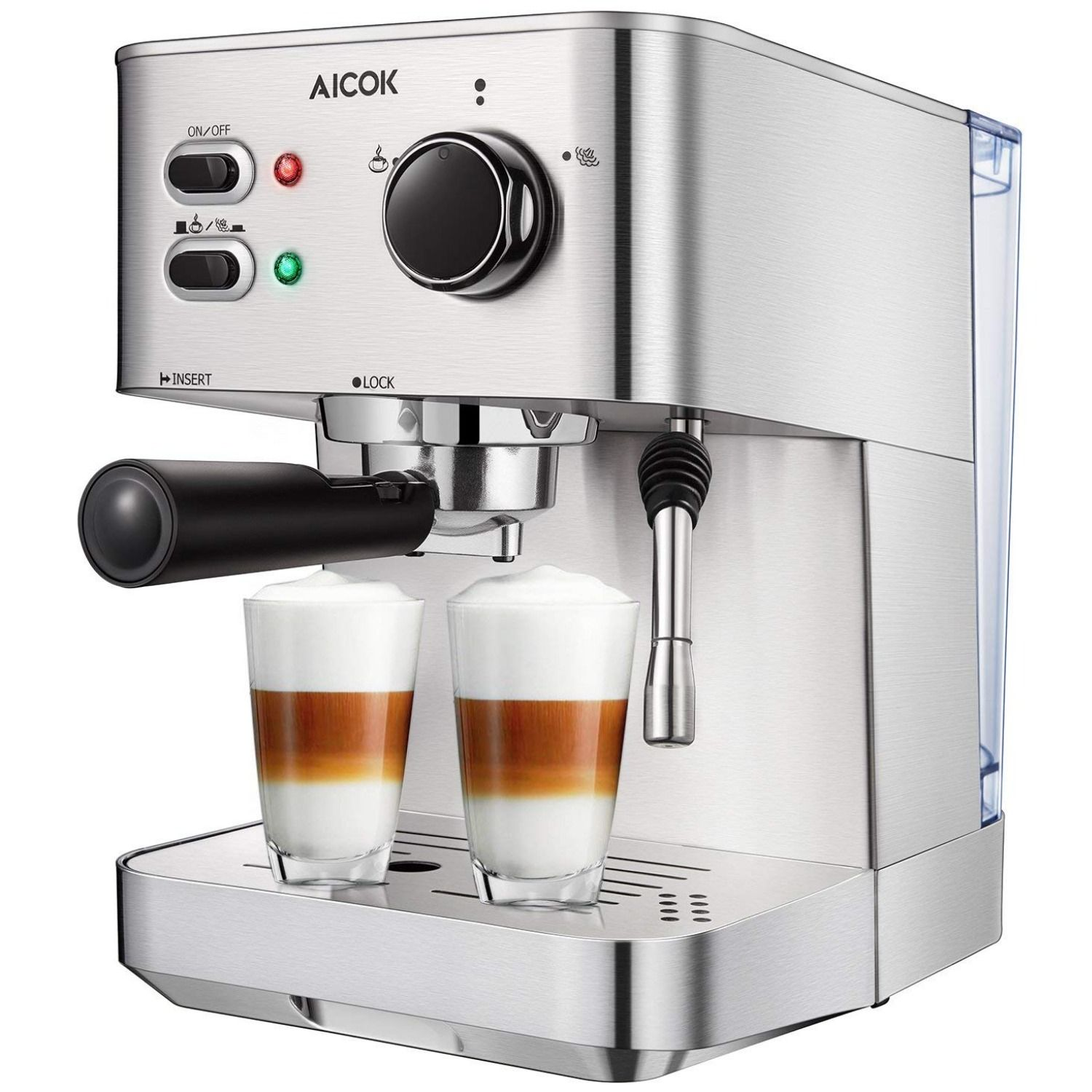Espresso Machine, Cappuccino Coffee Maker with Milk