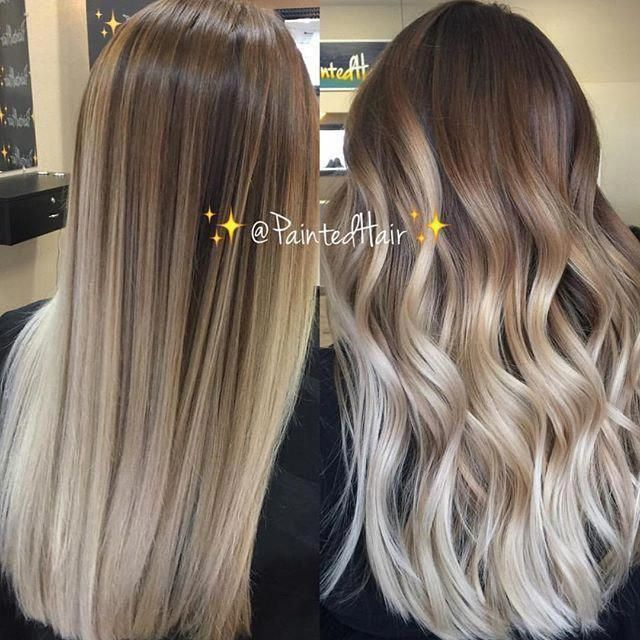 These Black Straight Balayage Truly Are Gorgeous Blackstraightbalayage Ombrehairstraight Balayage Straight Hair Straight Hairstyles Dark Roots Blonde Hair