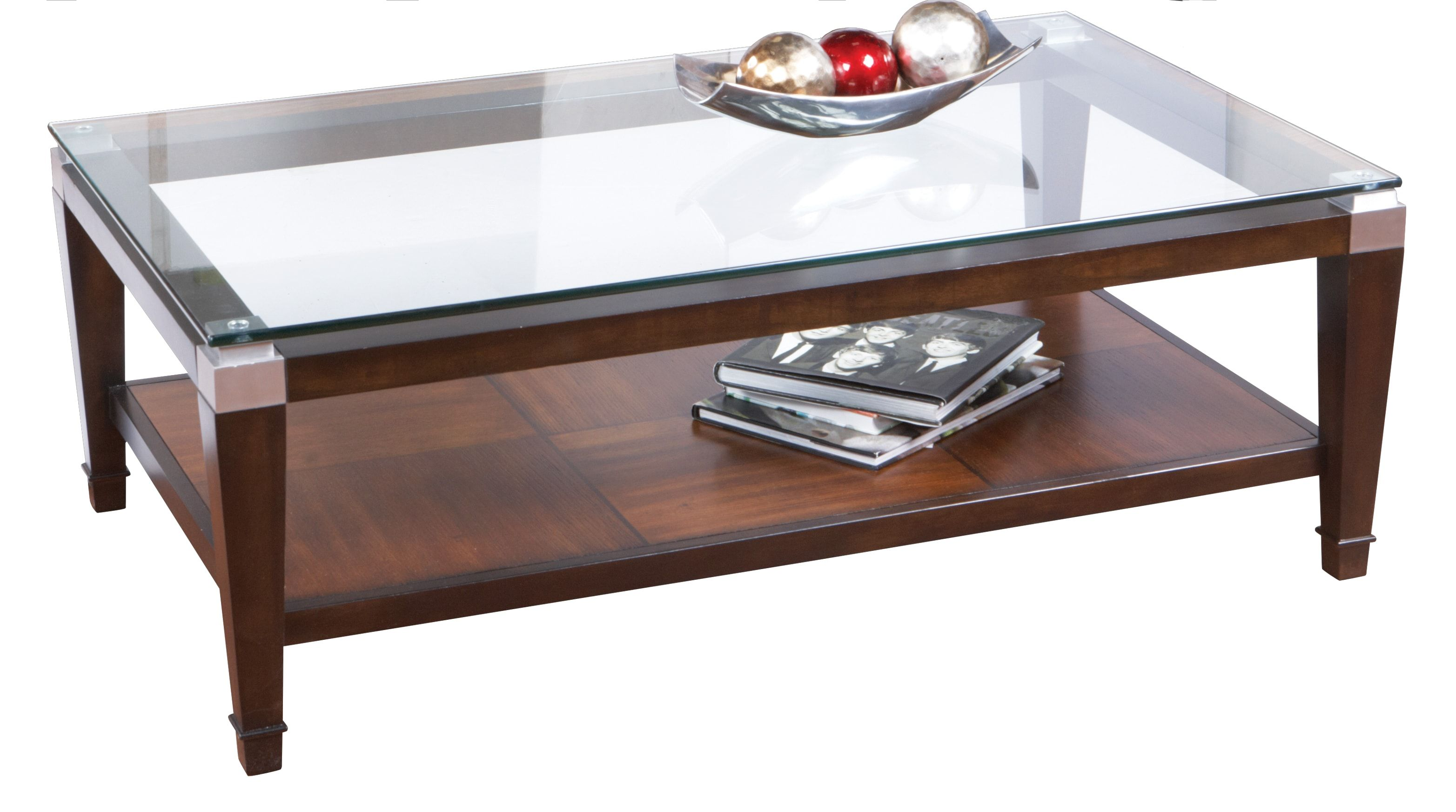 Laketon Walnut Cocktail Table Rooms To Go Furniture Living Room Table Sets Coffee Table
