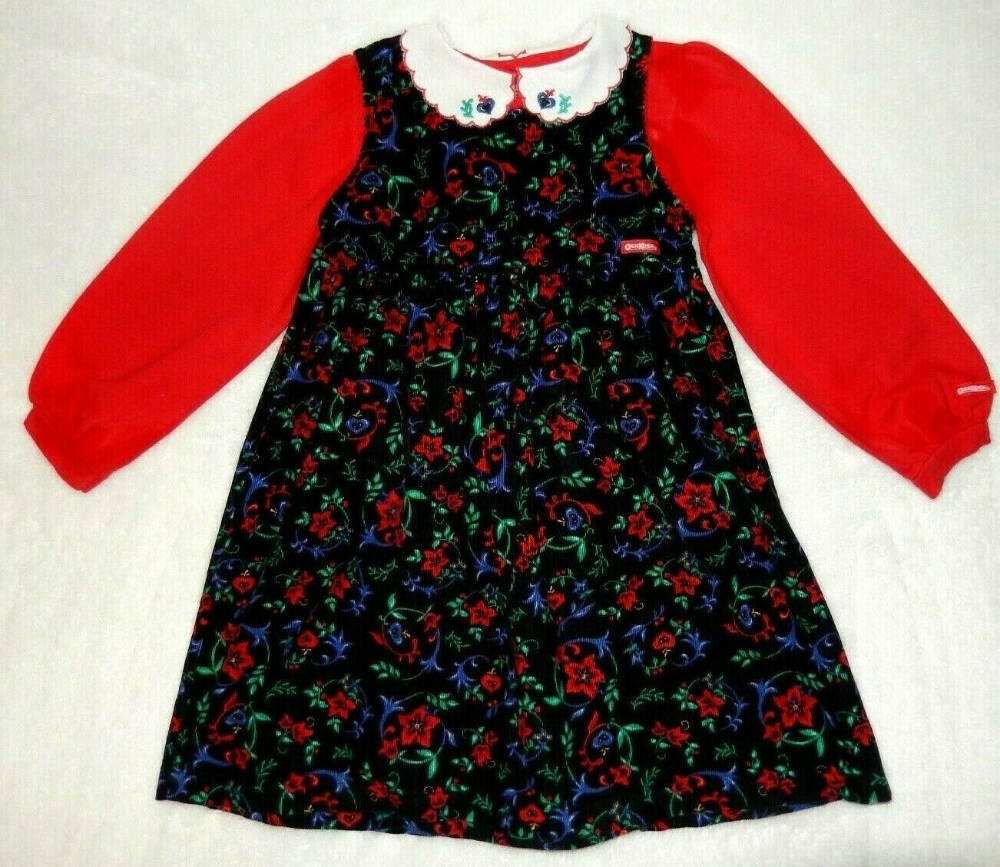 5t Vintage Oshkosh Red Black Blue Floral Christmas Dress Shirt Set Ebay Christmas Dress Shirts Dresses Shirt Dress [ 867 x 1000 Pixel ]