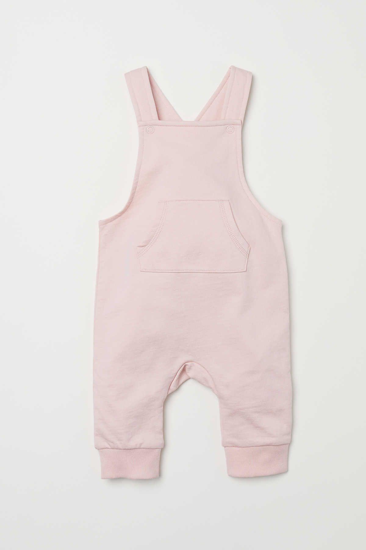 3b8a501c8 Powder pink. CONSCIOUS. Bib overalls in soft organic cotton ...