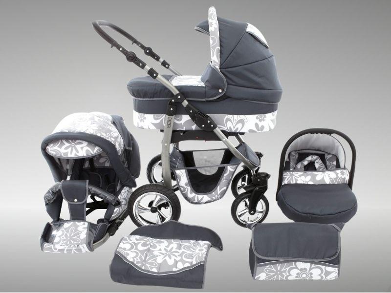 Magic Dino 3 In 1 Travel System Pram Pushchair Stroller Buggy