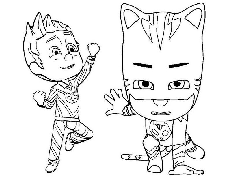Pj Masks In Action Coloring And Sticker Pages Festa