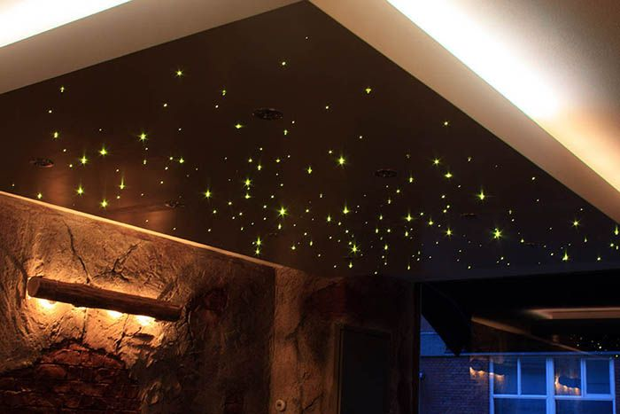 slaapkamer sterrenhemel plafond | stretch ceiling | Pinterest