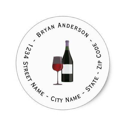 Wine Return Address Label  Return Address Gifts Label Labels
