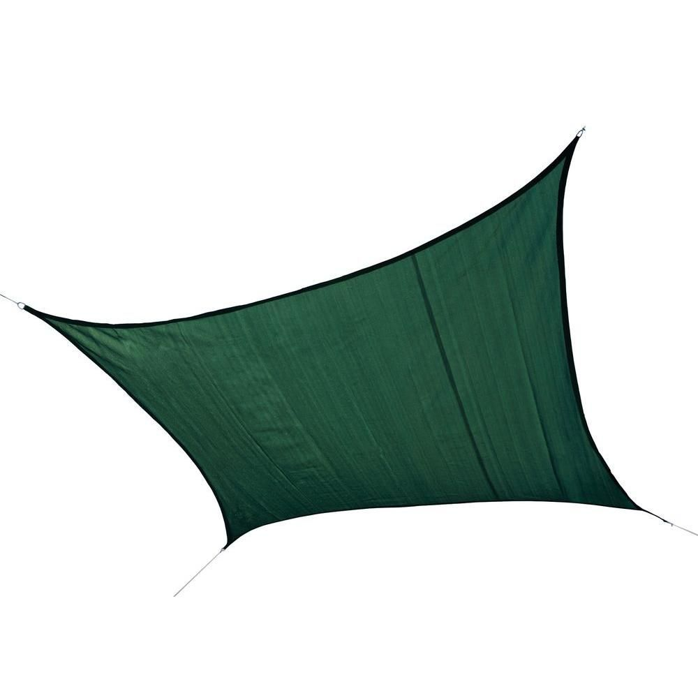 Terrific Pic ShelterLogic 16 ft W x 16 ft L Square HeavyWeight Sun Shade Sail in Evergreen Poles Not Included with Breathable Fabric25727  The Home Depot Strategies Nowad...