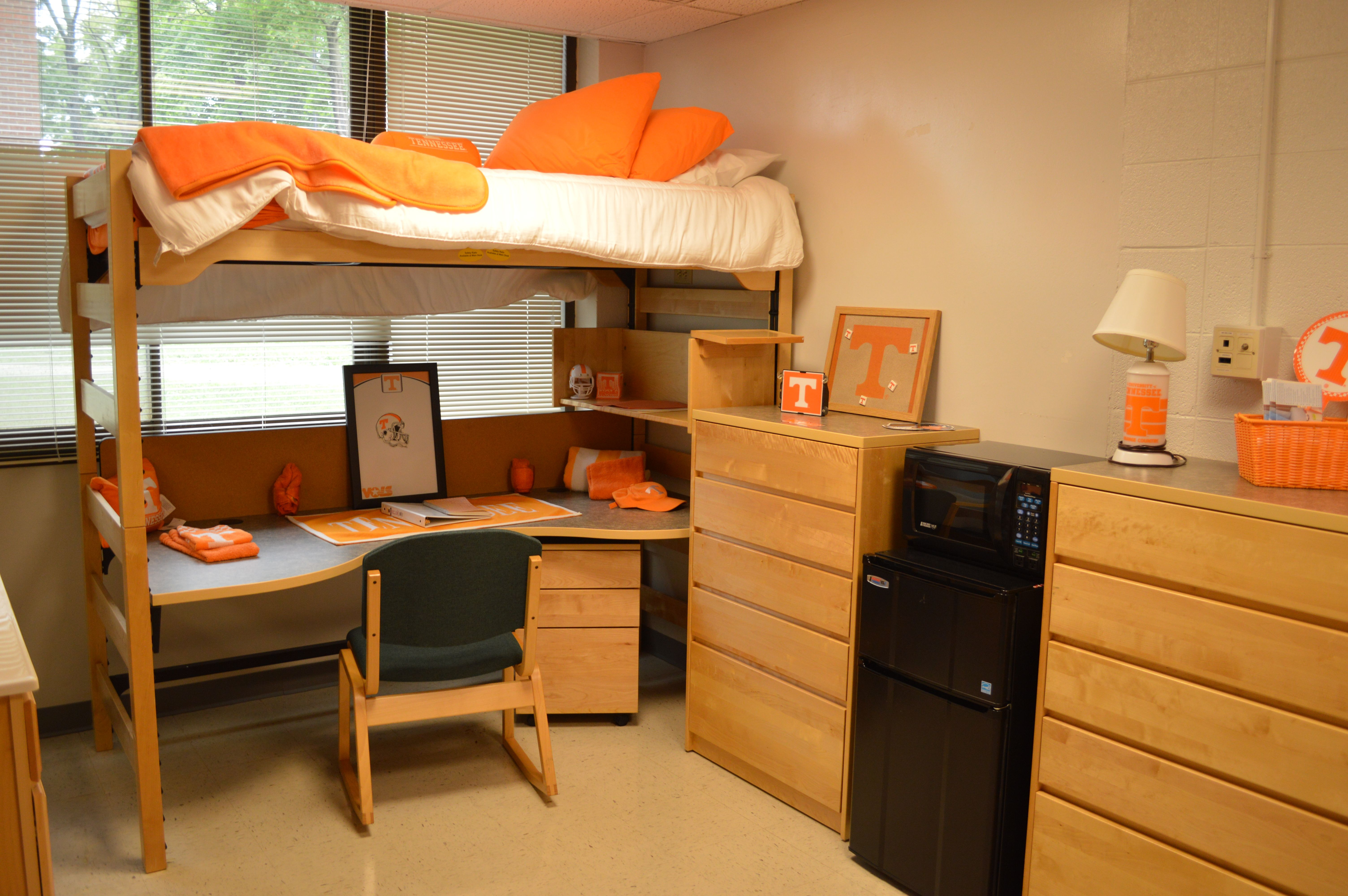 College bed risers - Morrill Hall Residence Hall Room