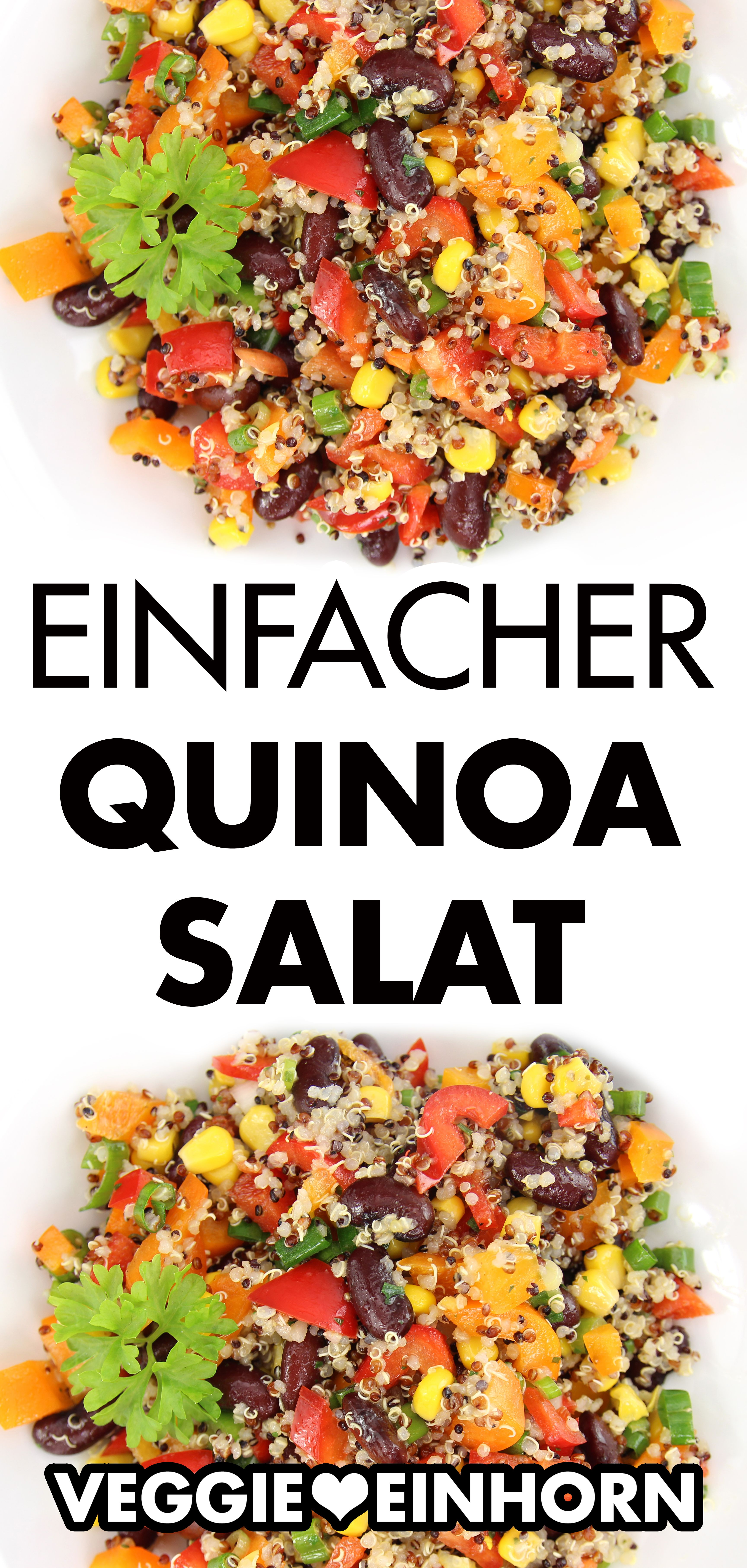 Photo of Simple Quinoa Salad | Vegetarian and vegan | Healthy quinoa salad