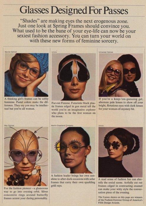¿Sabes cuál era la moda en #gafas para mujer en los años 70?