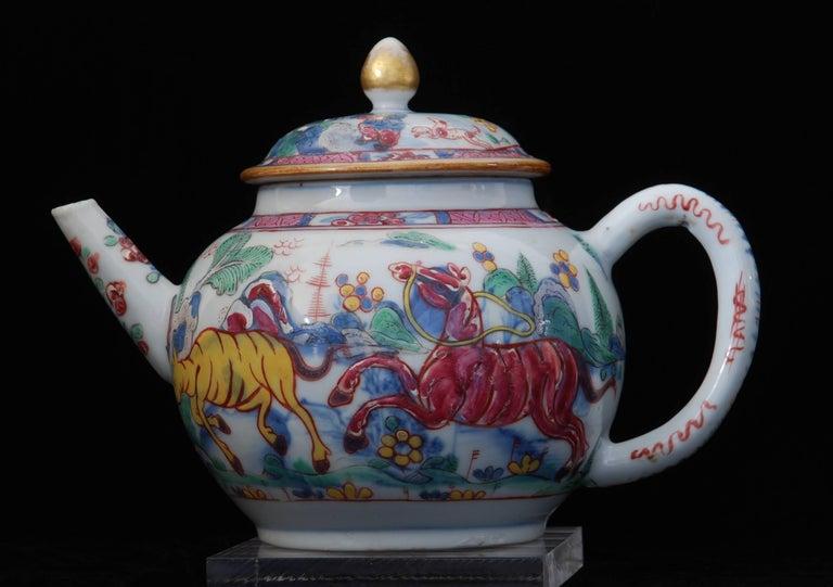 Teapot Prancing Ponies China Circa 1760 Decorated In London Tea Pots Porcelain Teapot Decor
