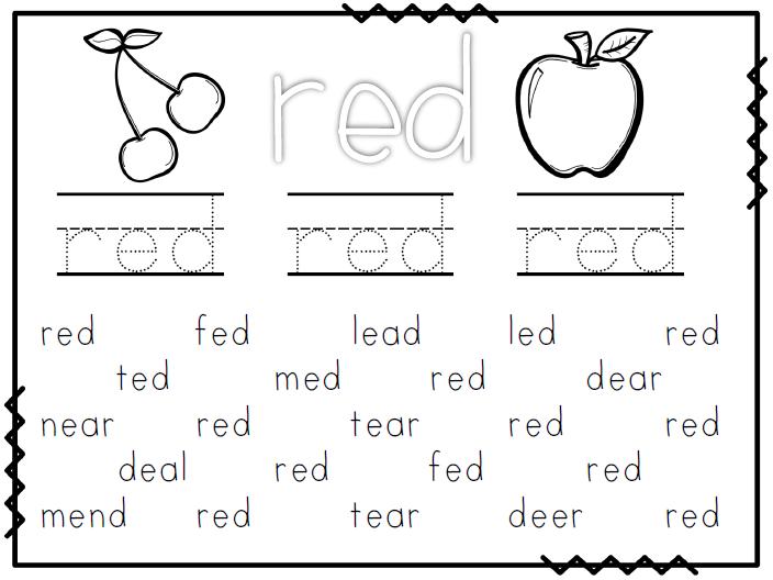 {FREE Worksheet Wednesday Kindergarten Freebies – Kindergarten Color Word Worksheets