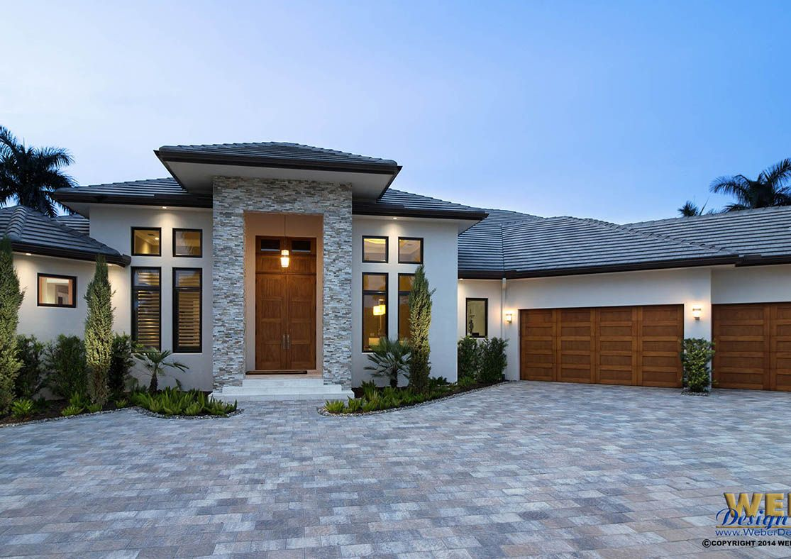 Contemporary House Plan: 1 Story Coastal Contemporary ...