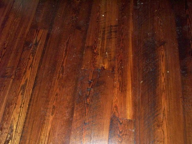 antique heart pine - prefinished - spice brown stain Green Family / Memphis.  4.75/ - Antique Heart Pine - Prefinished - Spice Brown Stain Green Family