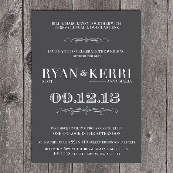 Diy printable wedding invitation and rsvp grey by notesandknots diy printable wedding invitation and rsvp grey by notesandknots 2500 solutioingenieria Gallery