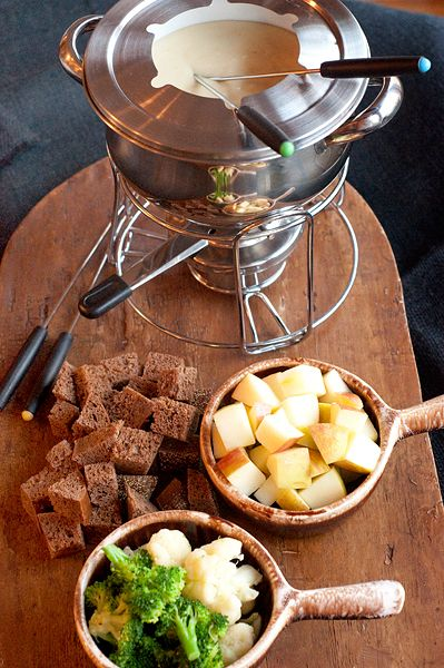 A Classic Cheese Fondue from Never Enough Thyme