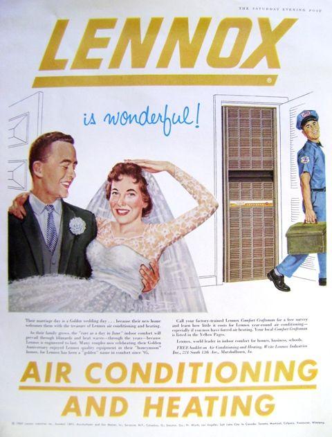 Vintage Lennox Ad Wedding Couple Art Vintage Ads