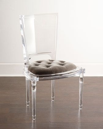 Acrylic Chairs With Cushions Chair Gym Owner's Manual Global Views Katherine Tufted Seat Made Of Mohair Polyester Blend In Italy Armchair 6 099 00 Side 4 699