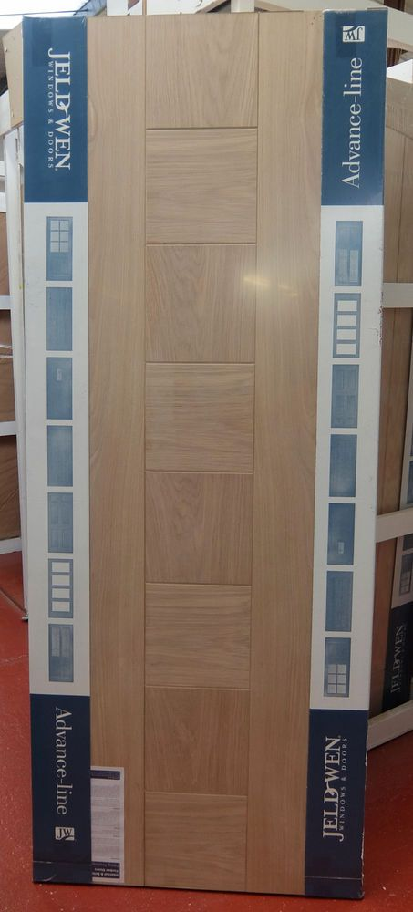 Engineered Oak Pablo External Panel Door 80x32 78x33 78x36 Wooden Timber