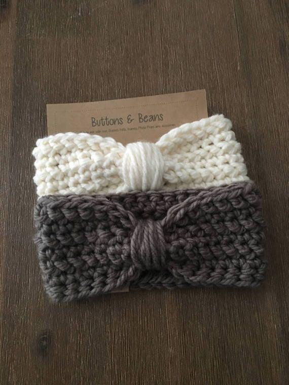 Listo para enviar calentadores del oído de crochet mes 3-6, estilo ...