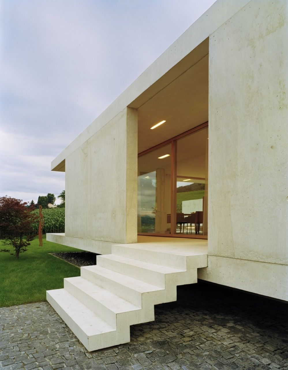 Architekten beton aussen minimalismus treppen betontreppen betonhäuser zürich moderne häuser