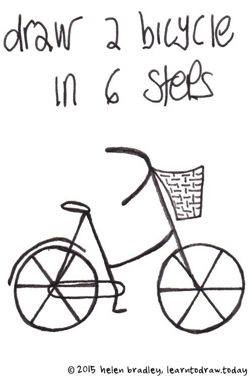 Draw A Bicycle In 6 Simple Steps Drawing In 2019 Pinterest
