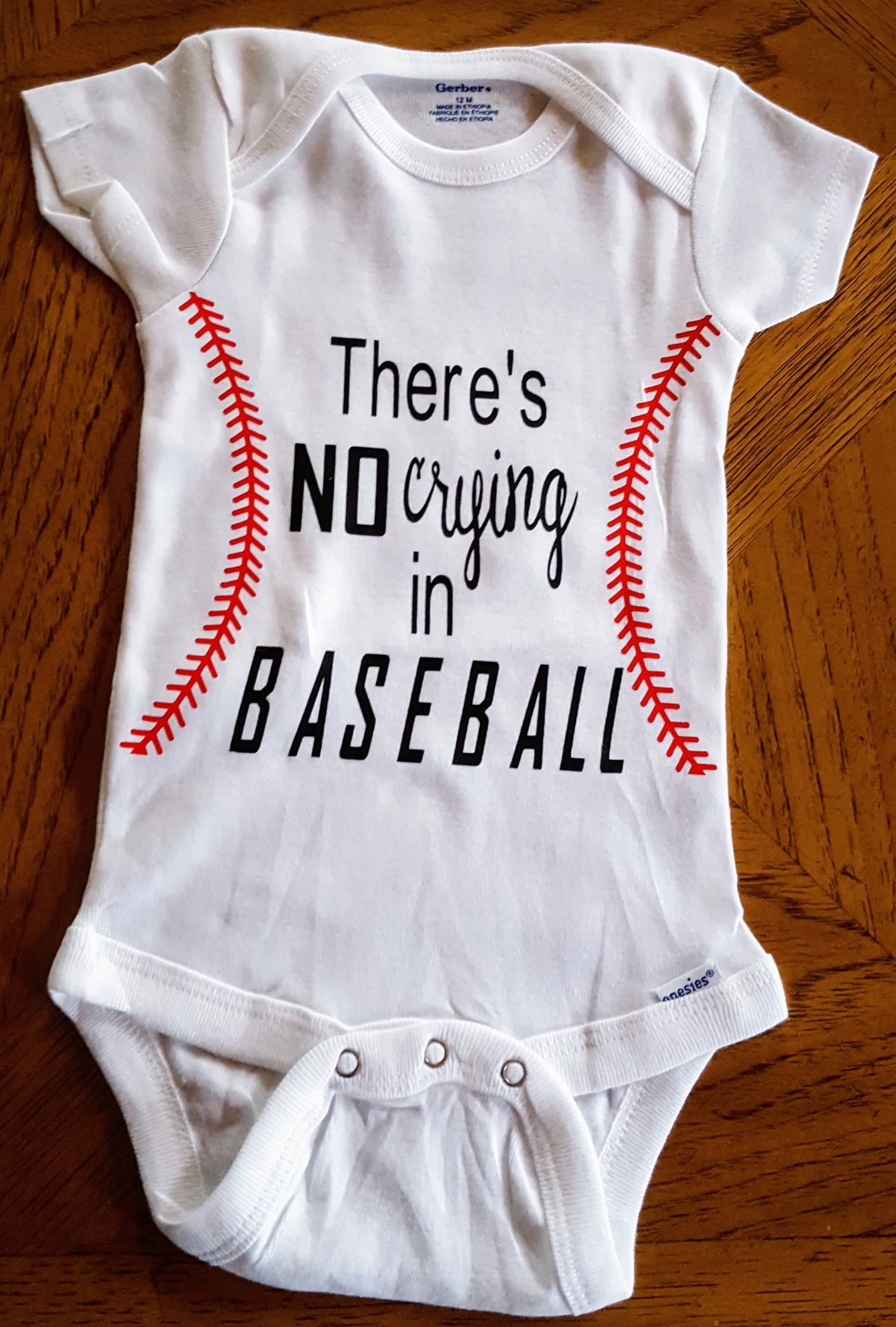 There s NO Crying in Baseball esie Baseball Fan Baseball Baby