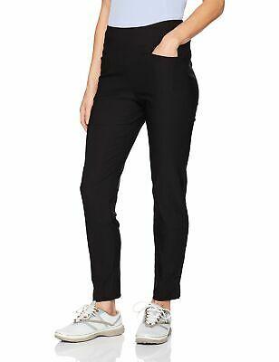 (eBay Ad) PGA Tour Women's Pants Deep Black Size Medium M Motionflux Pull On $55- #054