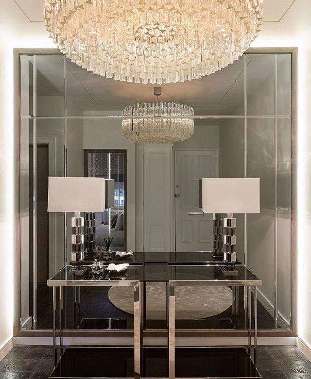 Interni moderni di lusso trendy tende per salone immagini for Entrate case moderne