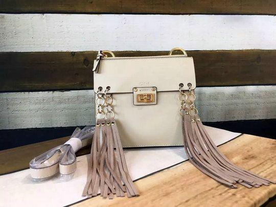 cee16ce848 2016 S/S Chloe Jane Crossbody Bag in Calfskin Leather with Suede Tassel Trim
