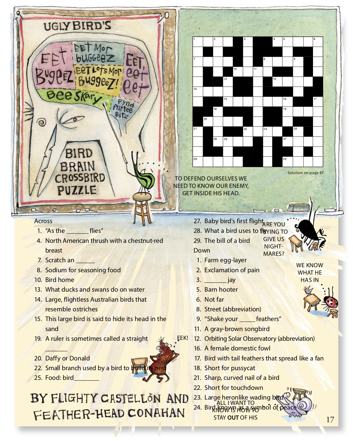 Downloadable Bird Themed Crossword Puzzle For Kids From