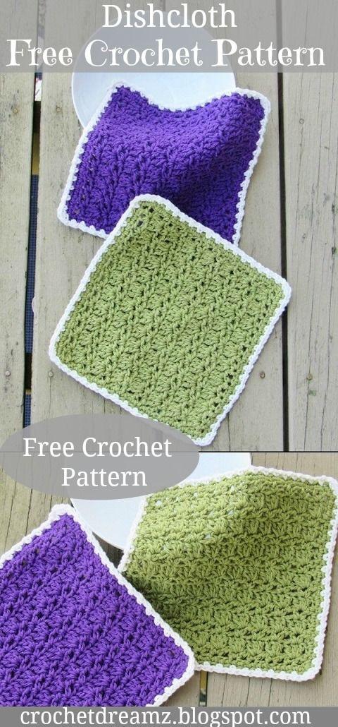 Dishcloth or Washcloth, Free Crochet Pattern   Crochet   Pinterest ...