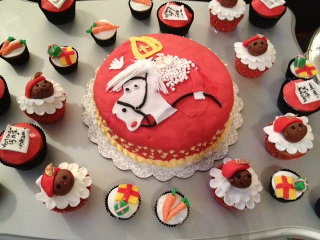 Sinterklaas taart en cupcakes