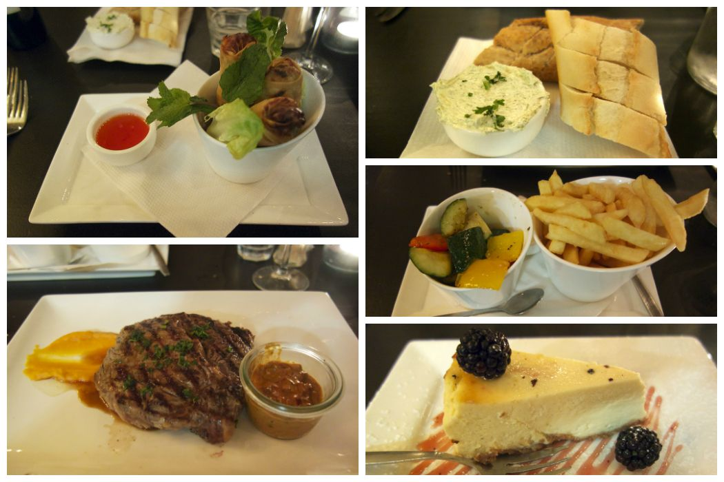 Springrolls, Rib-Eye en New York Cheesecake bij Dickens & Jones. #smakelijkbreda #food #foodblog #avondeten #breda