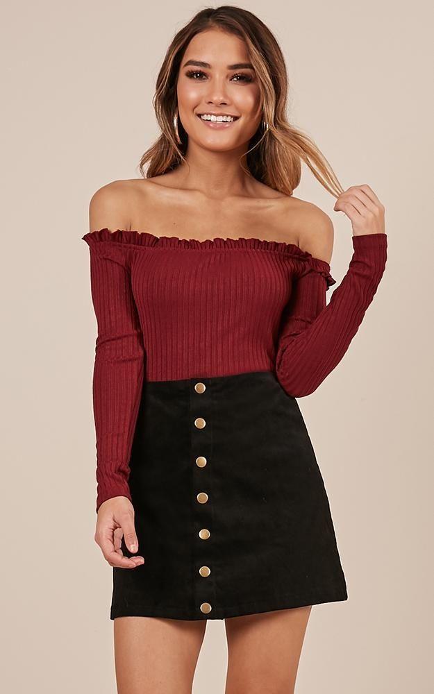 Open Season Skirt In Black Produced By SHOWPO 2