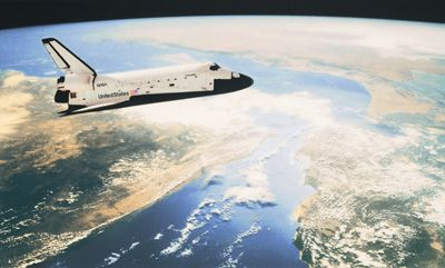 Shuttle In Orbit Mural Environmental Graphics Murals Your Way