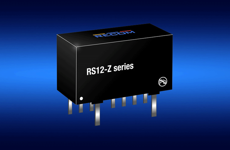 New 12w Dc Dc Power Converters From Recom In Compact Sip 8 Package Power Converters Converter Power