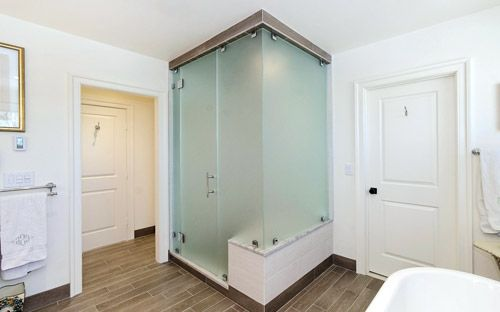 Frosted Glass Shower Doors Bathroom With Jack Custom Enclosures