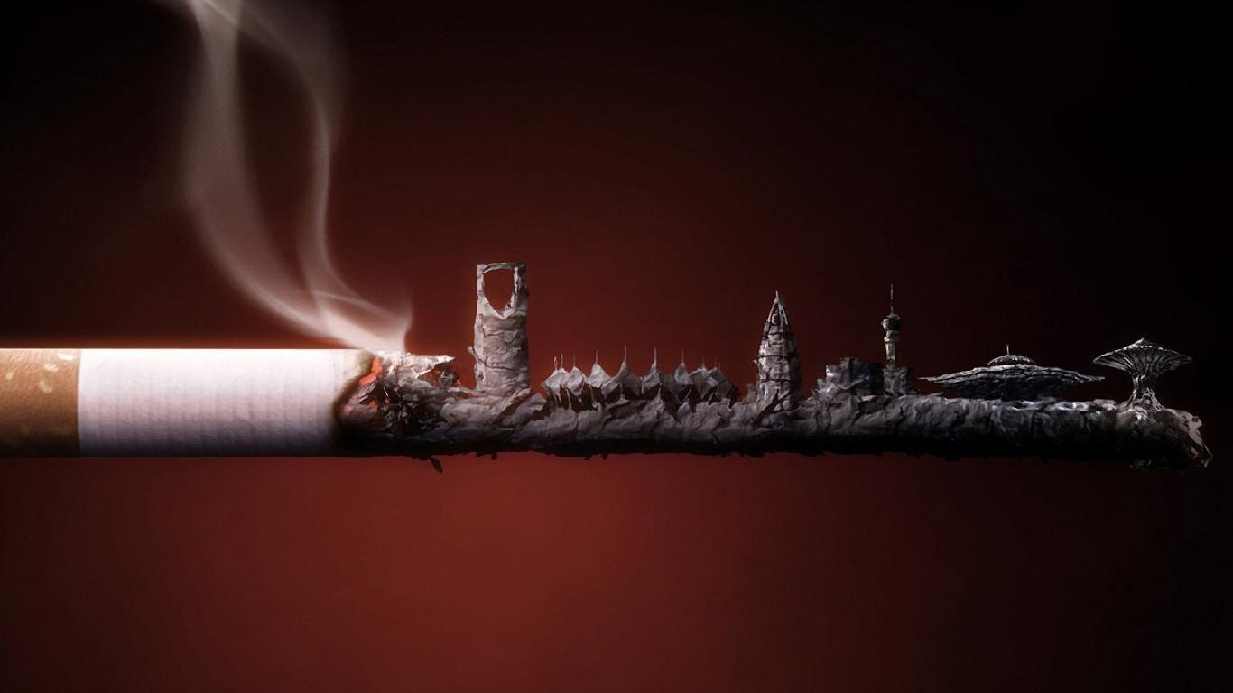 No Smoking Cigarette Smoke City