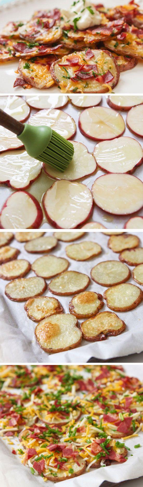 loaded potato rounds easy christmas eve dinner ideas appetizers - Christmas Eve Snacks