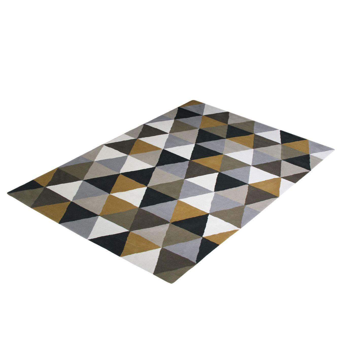 Hochflorteppich Virsi Mischgewebe Mehrfarbig 200 X 290 Cm Teppich Flores Grafische Muster