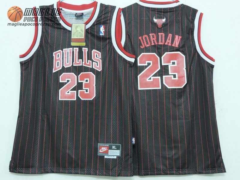 fa259e5fe7144 Canotte nba Bambino Chicago Bulls nero striscia Michael Jordan  23 ...