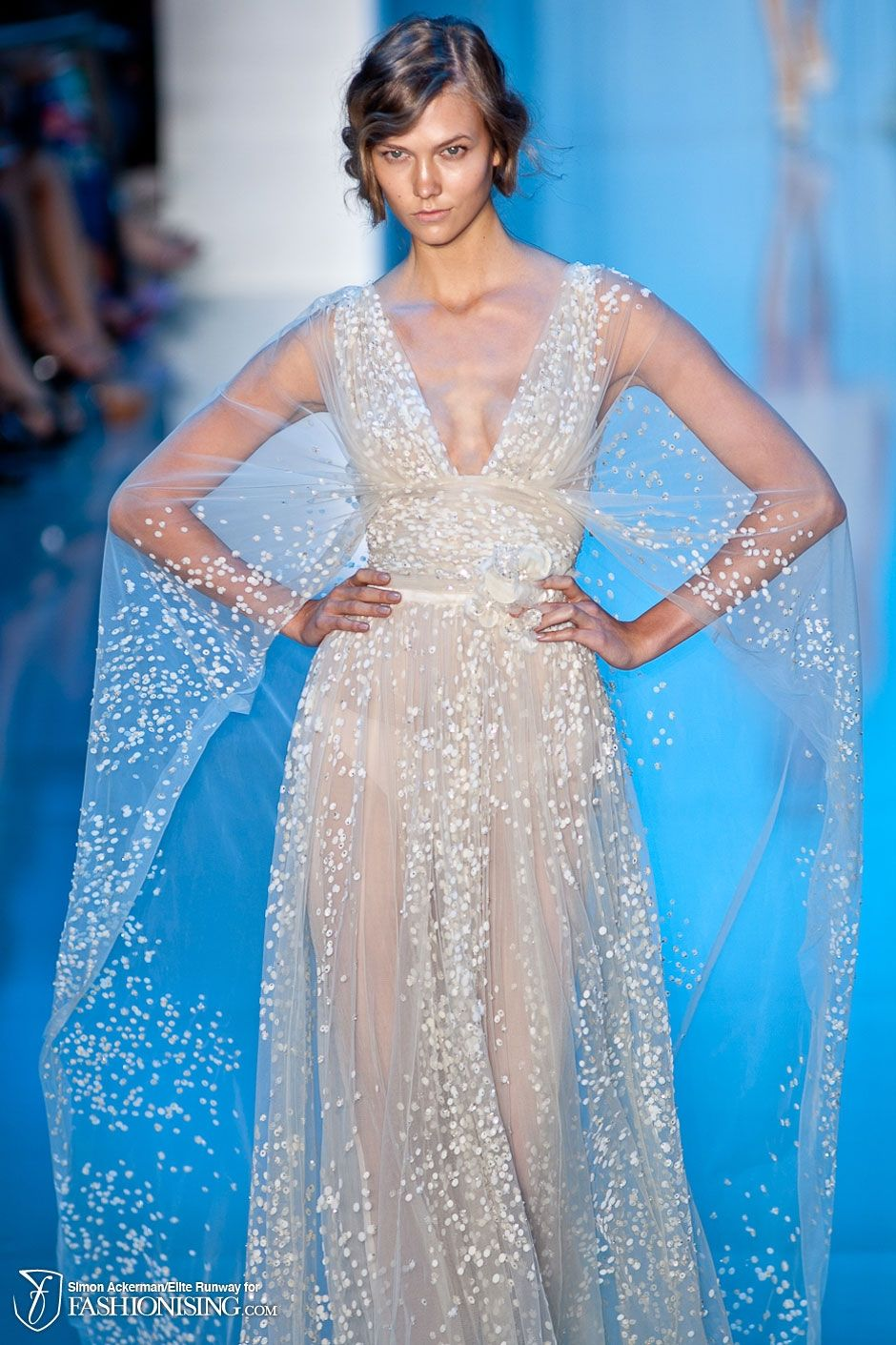 Elie saab glam pinterest winter cape david meister and ice queen