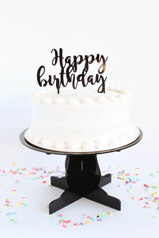 Cake topper happy birthday birthday cake toppers
