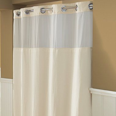 Buy Hookless Waffle 71 Inch X 74 Inch Fabric Shower Curtain And