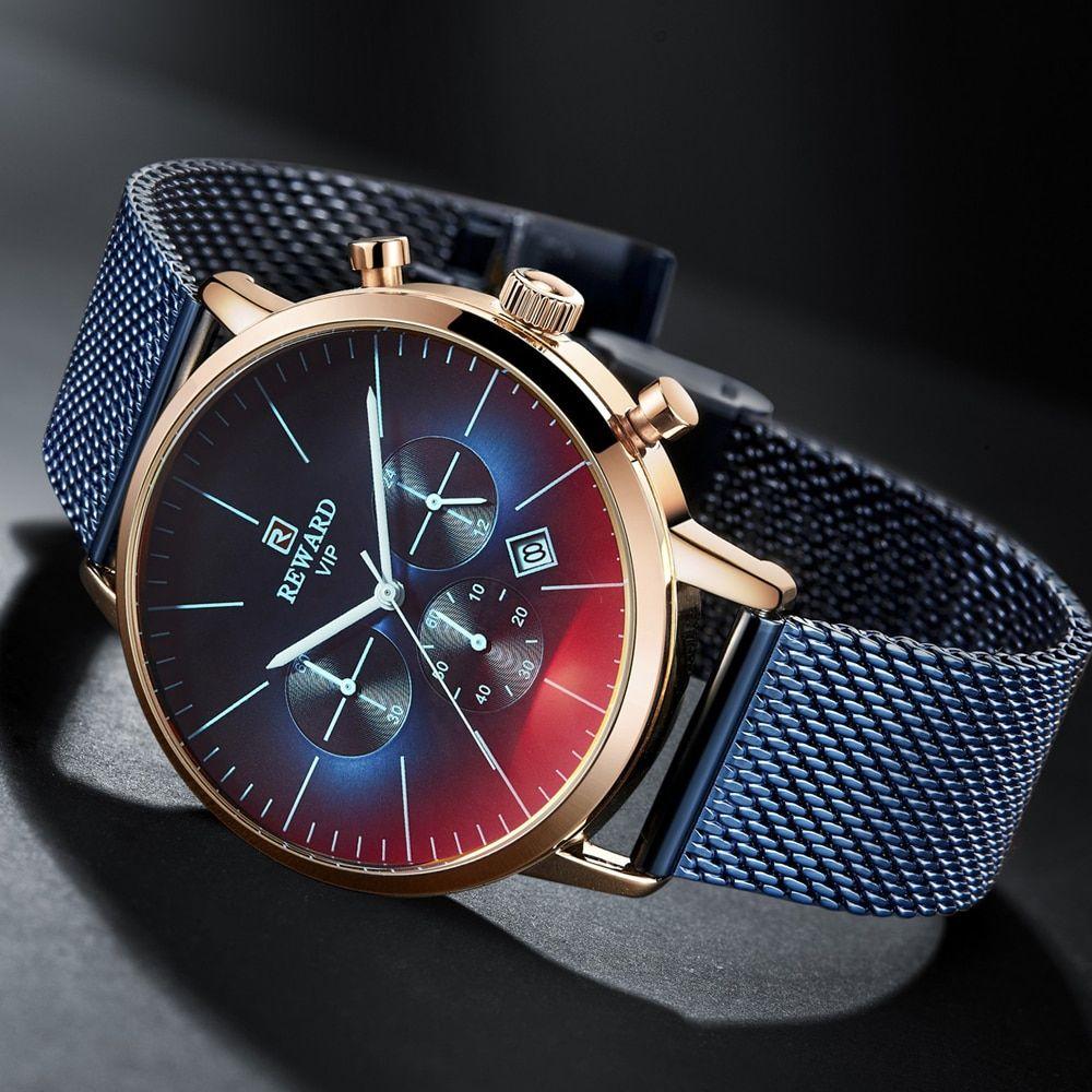 Oferta Novedad De 2020 Reloj De Pulsera Para Hombre Con Cristales Brillantes Y Colores A La En 2020 Reloj De Hombre Correas De Reloj De Cuero Marca De Lujo