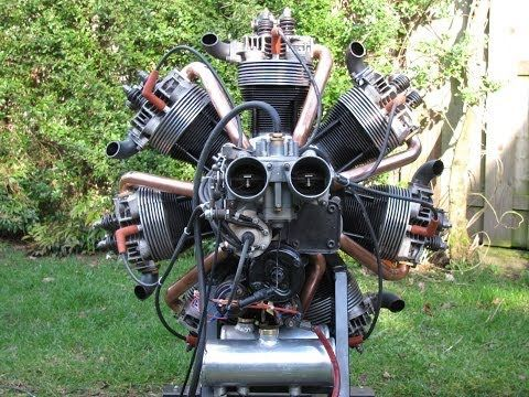 How a Radial Engine Works - Amazing