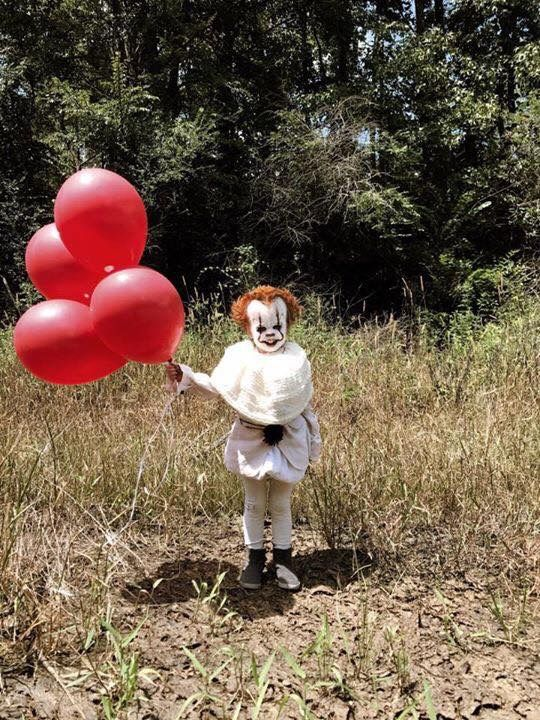 Pennywise from the movie IT kids costume!!! Creepy
